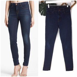 J Brand Maria Starless Hi Rise Skinny Blue Jeans